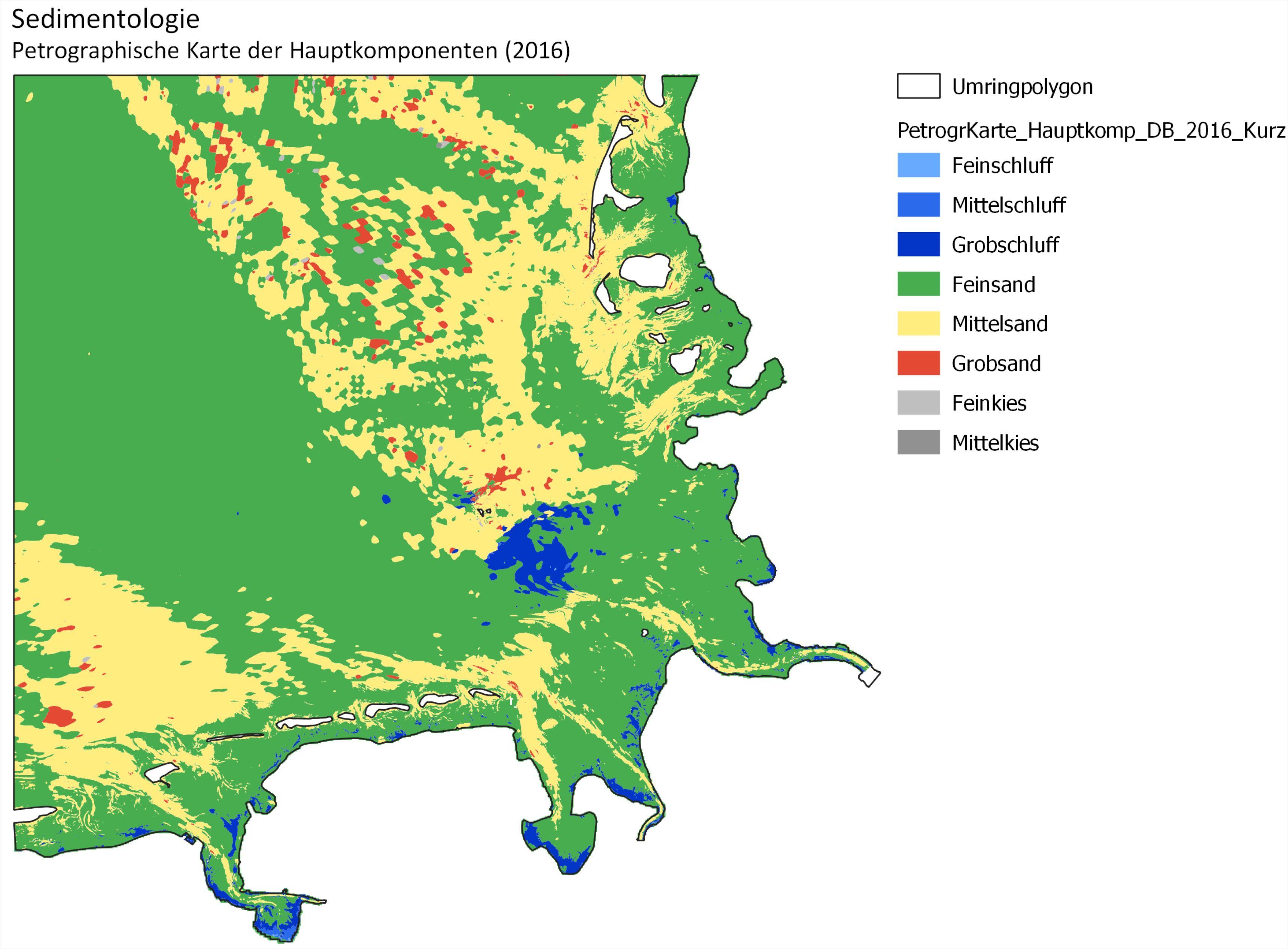 Beispiel: Petrographische Karte der Hauptkomponenten 2006 (Kurzform)
