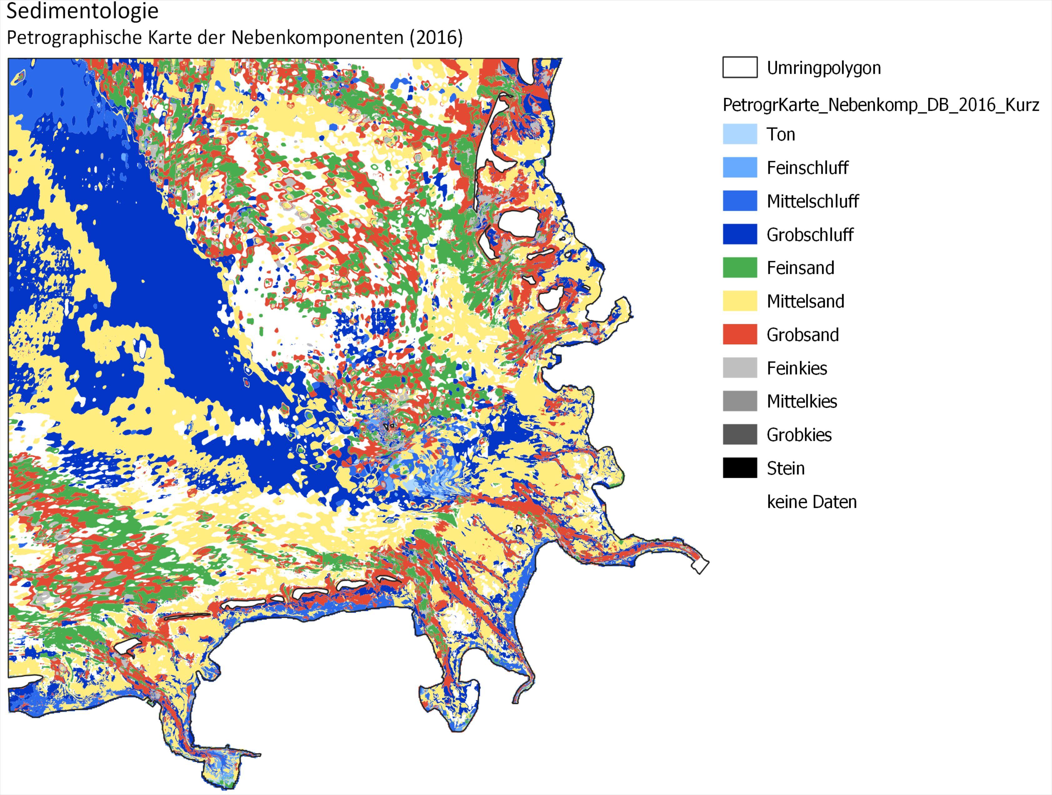 Beispiel: Petrographische Karte der Nebenkomponenten 2016 (Kurzform)